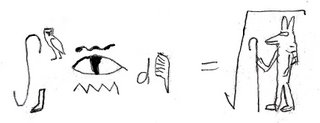 The integral of snake-over-eye-over-water from foot to owl, d-feather is equal to the square root of Anubis
